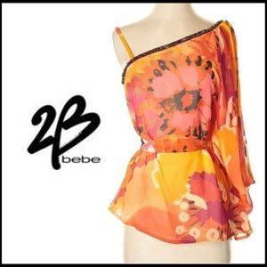 NWOT 2B BEBE - Gorgeous Asymmetrical Top